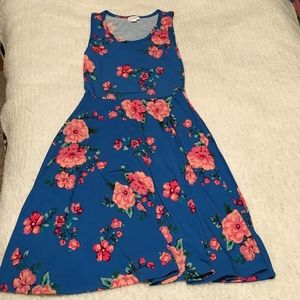 LuLaRoe | Nicki Dress | Blue Floral | Size XS